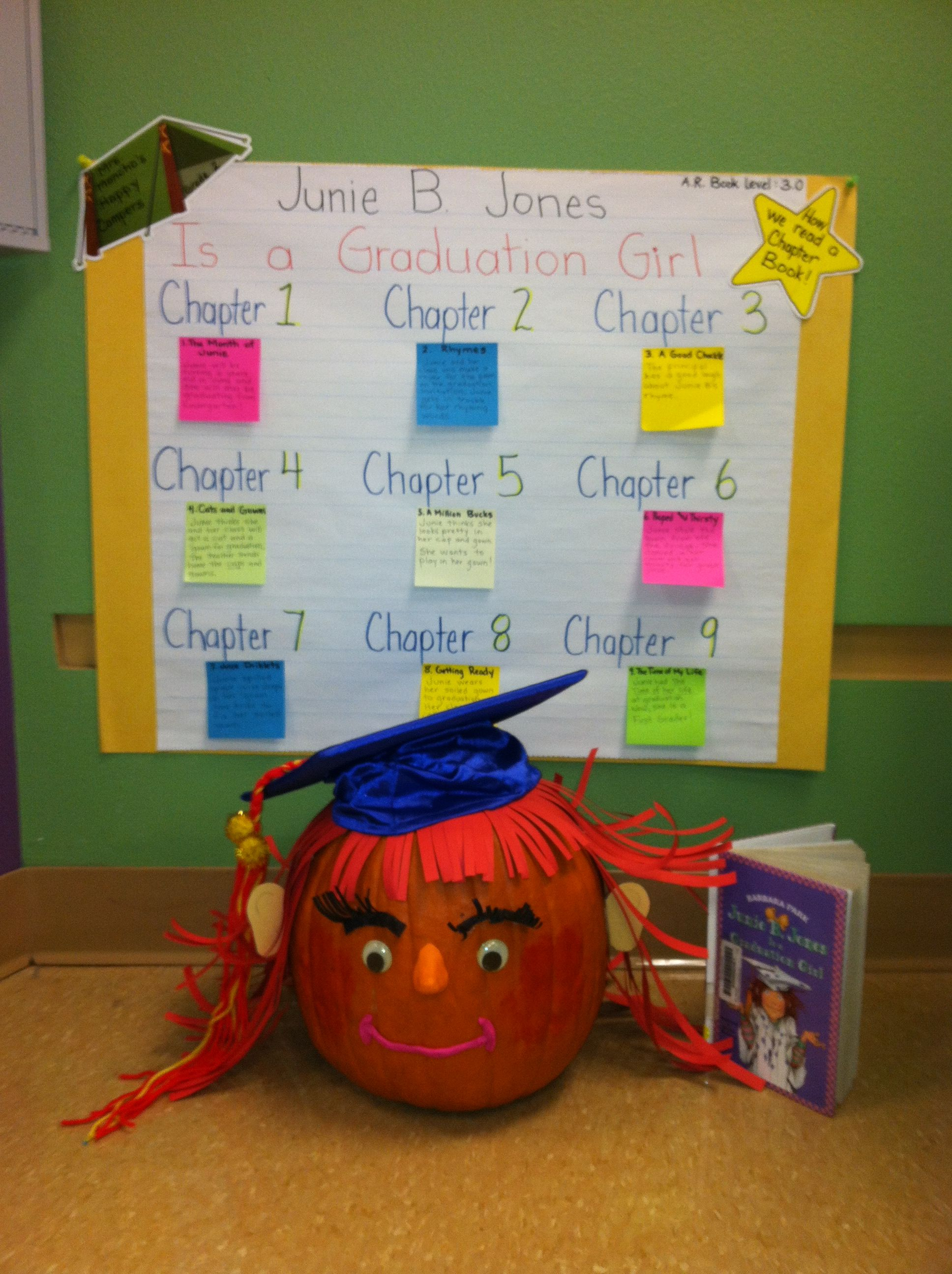 Our Junie B Jones Graduation Girl Book Pumpkin