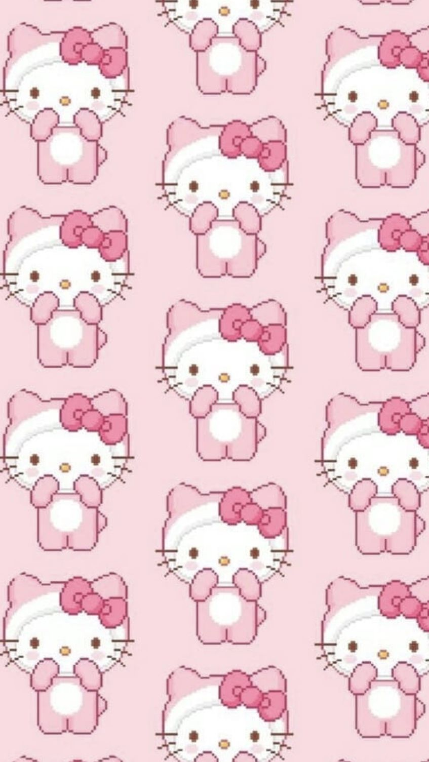 Pink Hello Kitty Wallpaper Pink Hello Kitty Hello Kitty Backgrounds Hello Kitty Wallpaper