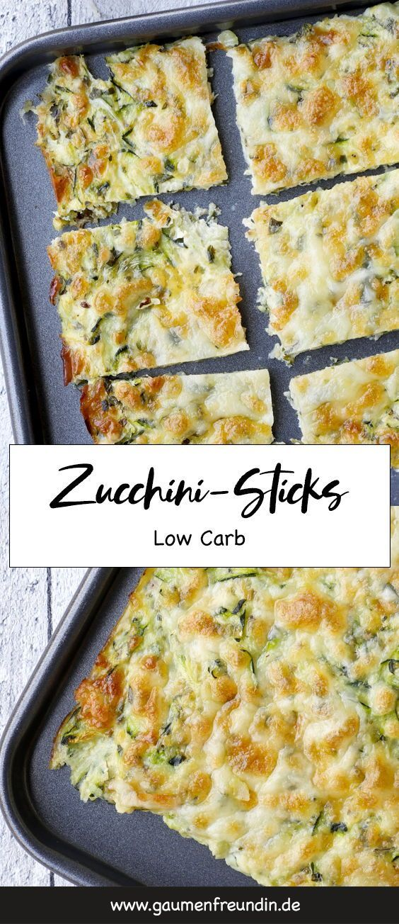 Photo of Low carb zucchini sticks with a zucchini and cheese batter