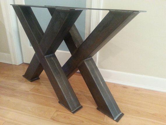 Chunky X 4x4 Steel Table Legs Oversize X Metal Table Legs X