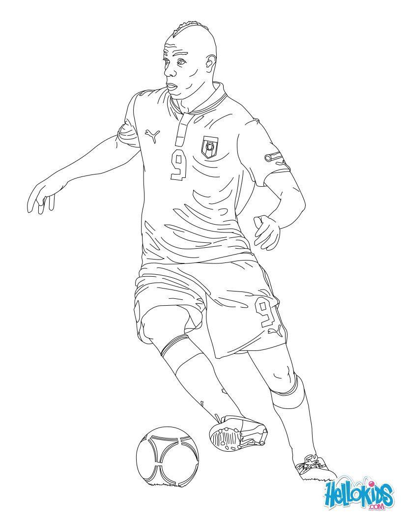 Mario Baloteli | Футбол | Pinterest | Ausmalbilder, Fußball und Vorlagen