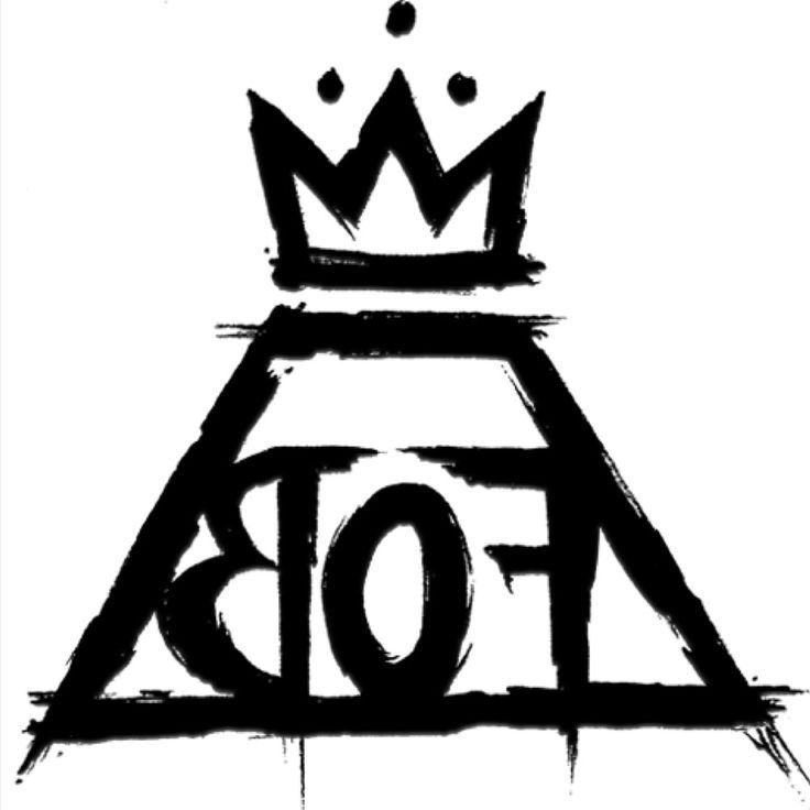 fall out boy logo looks good in white as well as black