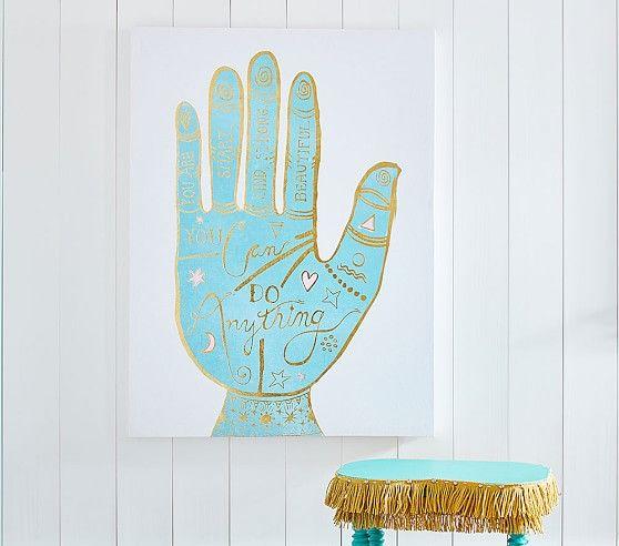 Pottery barn kids justina blakeney hand print stretched canvas bohemian life pinterest justina blakeney barn and room