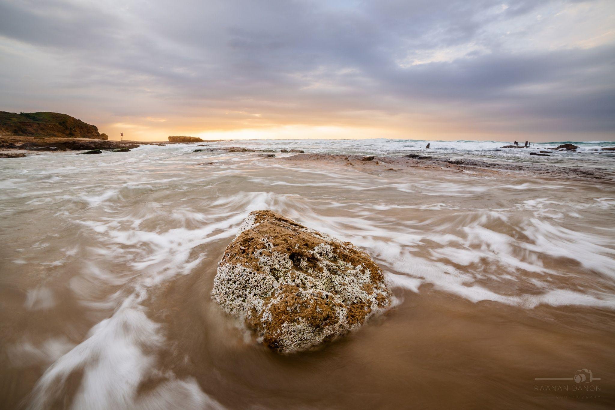 White Rock at Sunset - White Rock at Sunset, Palmahim Beach