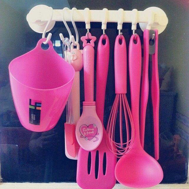 Pink Kitchen Utensils