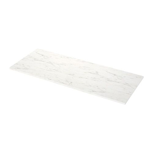 Ikea Ekbacken White Marble Effect Laminate Countertop Mid Century House Laminate Countertops Kitchen Countertops Countertops