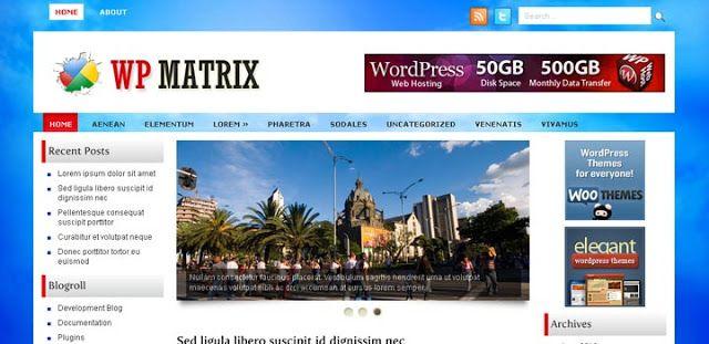 WpMatrix WordPress Theme A bright three column theme with a simple ...