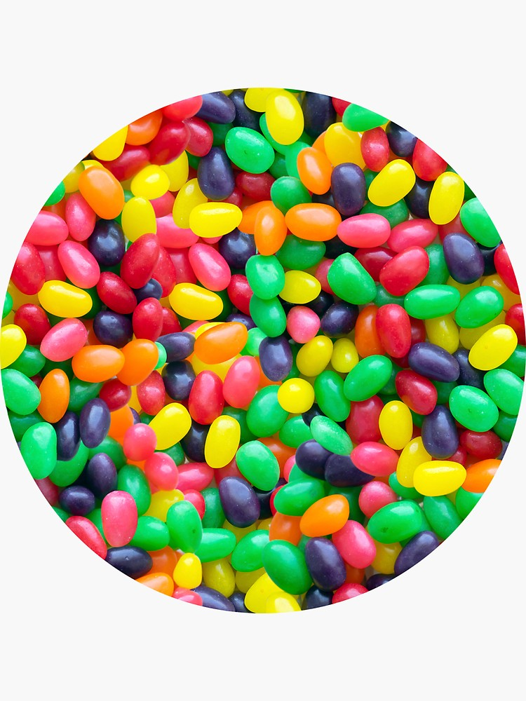 Jelly Bean Real Candy Pattern Sticker By Patternsoup Jelly Bean Candy Jelly Beans Photo Pattern