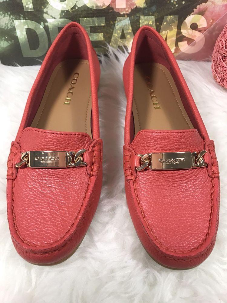 RED/ORANGE Leather FREDRICA Flat Loafer