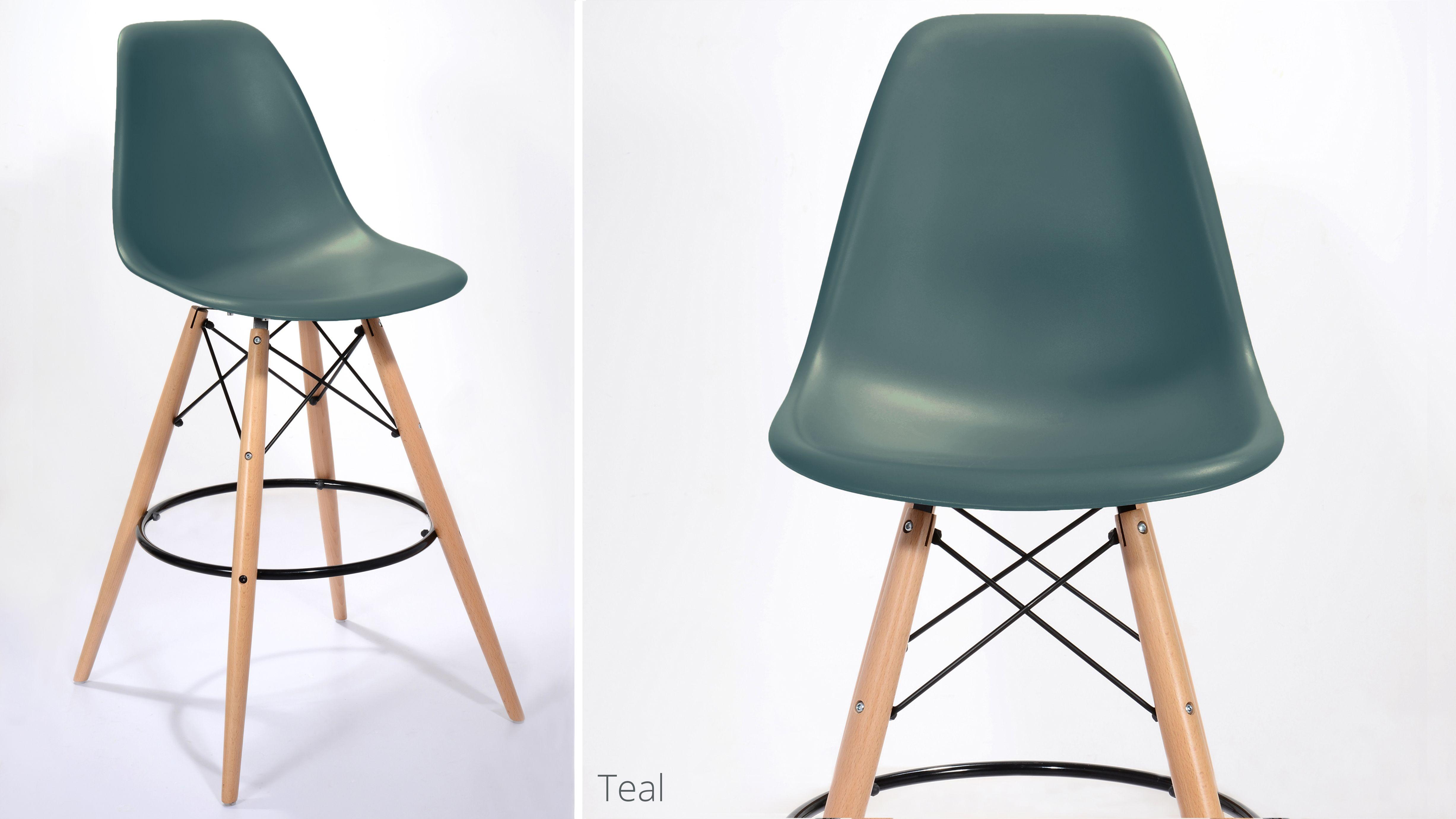 Eames Style Bar Stool Bar stools, Wooden bar stools, Bar