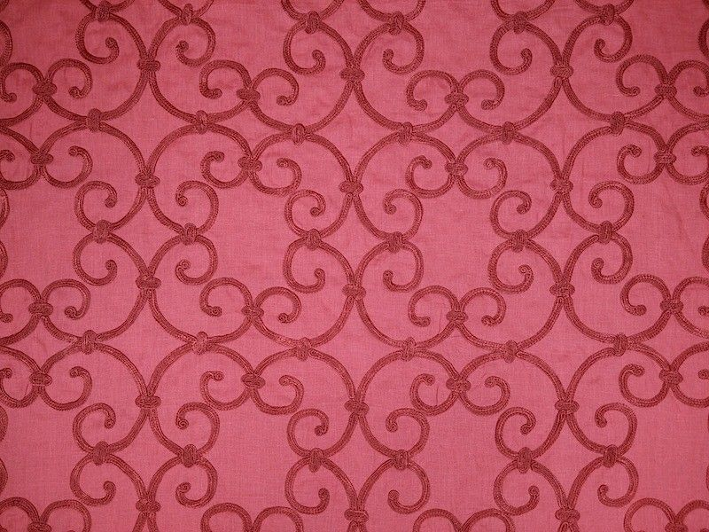 Siena Linen Ruby Curtains Fabric - The Millshop Online | Pretty In ...