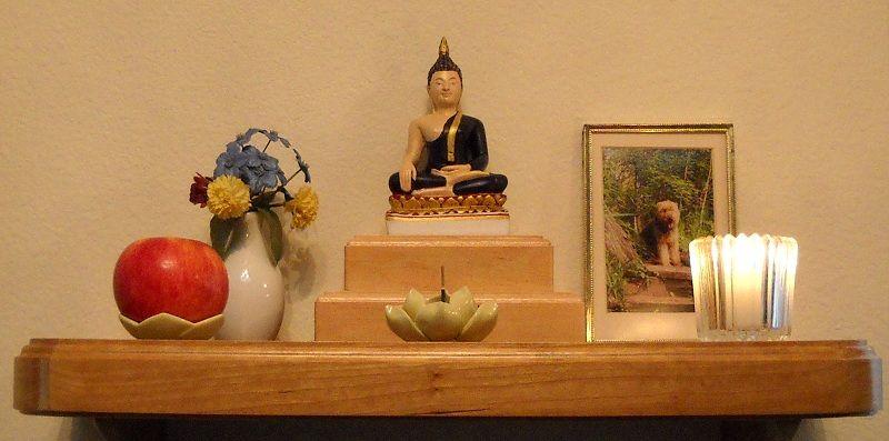Buddhist Altars In The Home Home Altar Example Alters Buddhist Shrine Meditation Altar