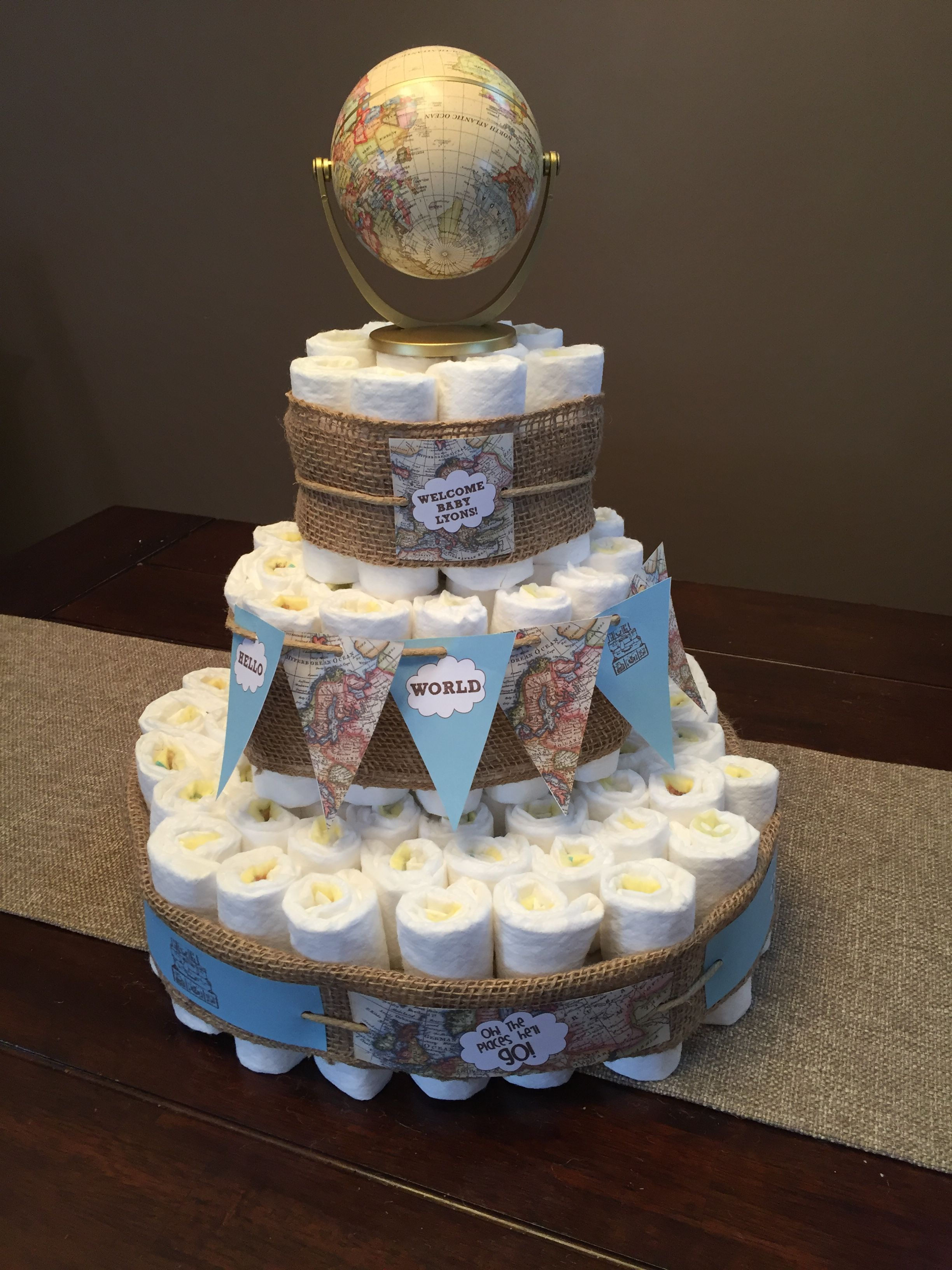 Travel Theme Diaper Cake Hdciv In 2019