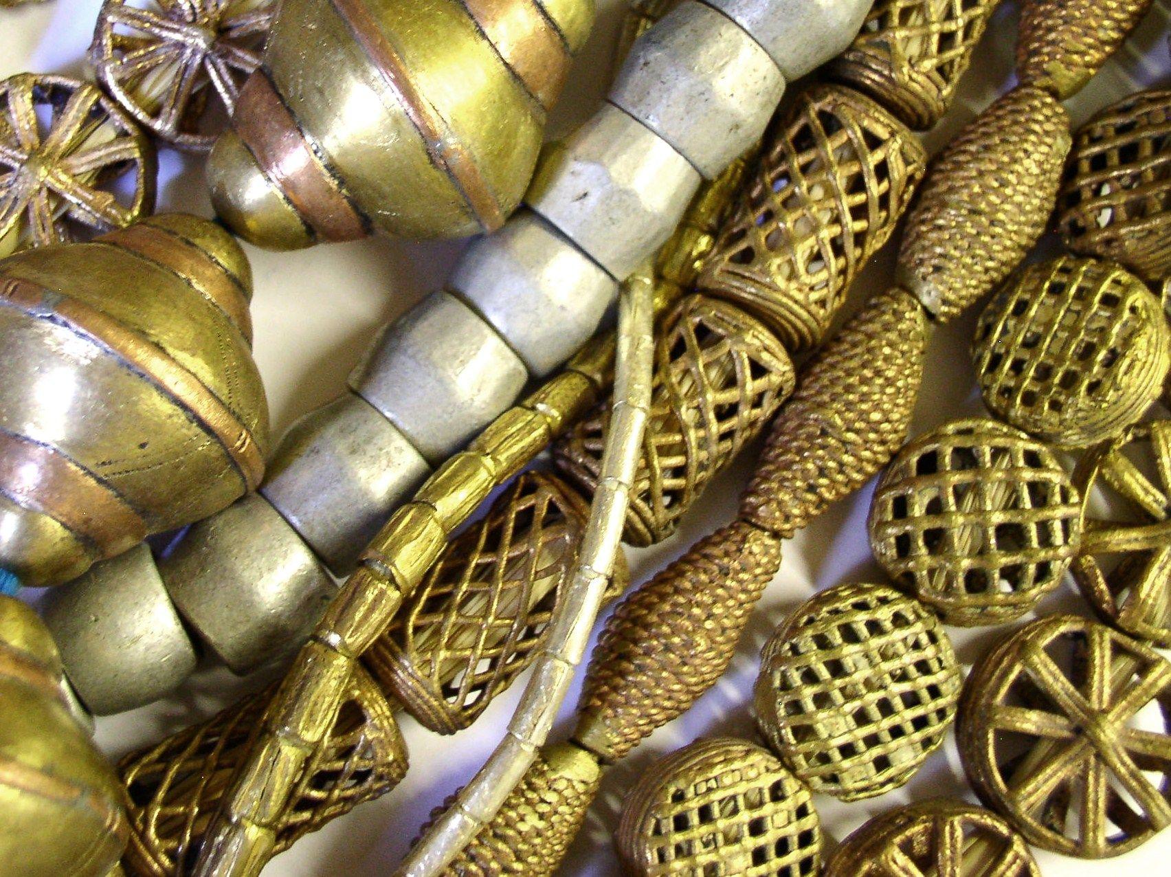 African Metal Beads