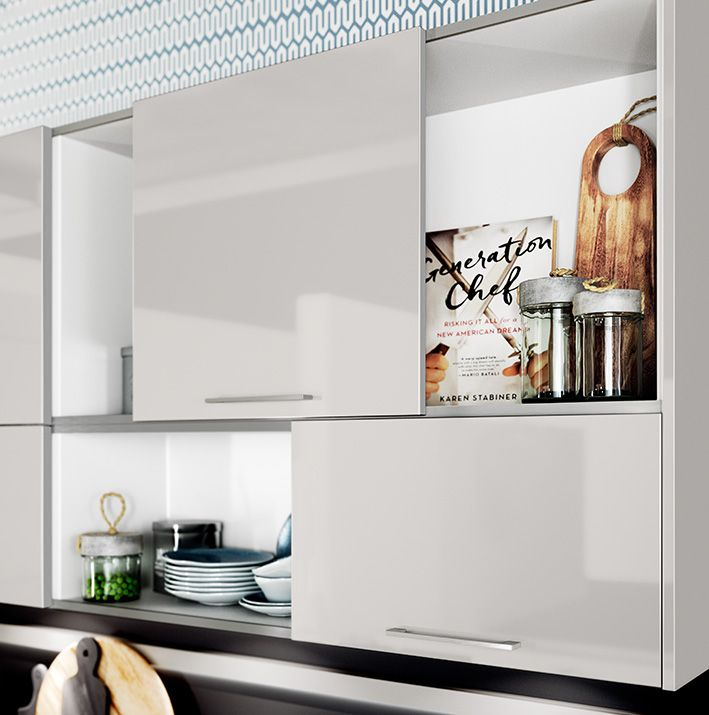OPEN SHELVES MAKE KITCHEN MORE OPEN AND ARE GREAT WAY TO DISPLAY - häcker küchen systemat