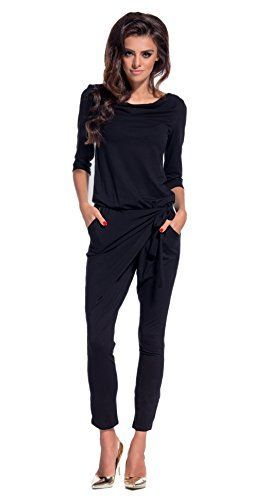 Lemoniade elegant jumpsuit with 3/4-sleeves and elegant ...