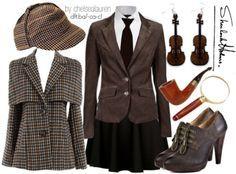 Lady Sherlock Womens Costume