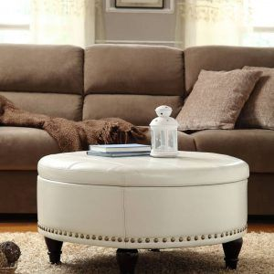 Round Cushion Coffee Table Upholstered Coffee Tables Storage