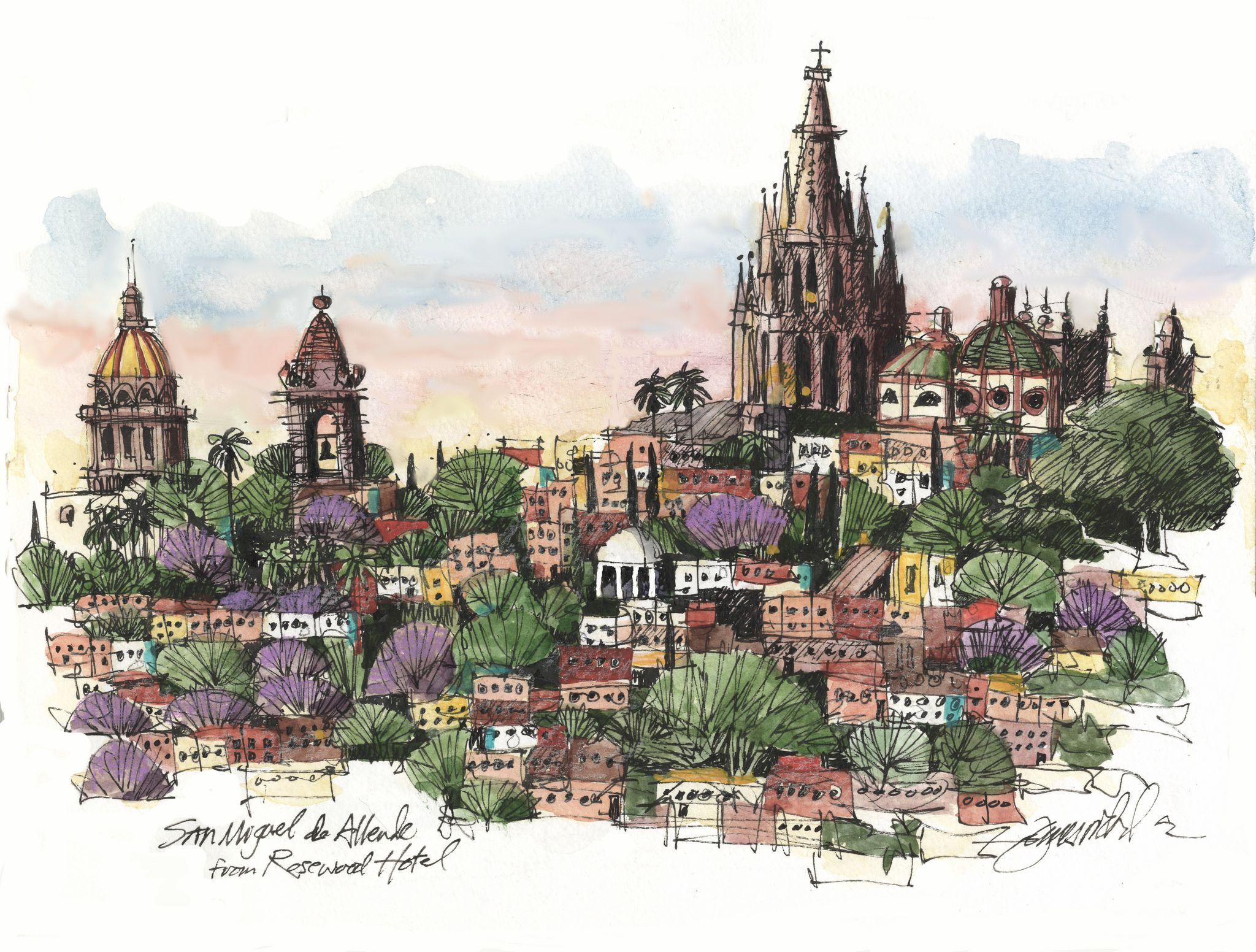 San Miguel De Allende Sketch Painting Sketches Urban Sketching