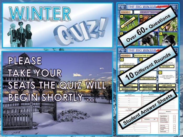 Christmas Quiz 2019 Winter End of Term Christmas quiz