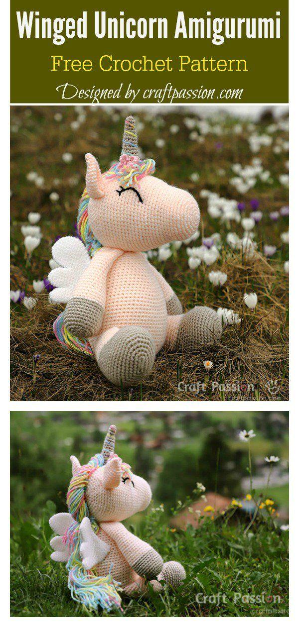 Photo of Winged Unicorn Amigurumi Free Crochet Pattern