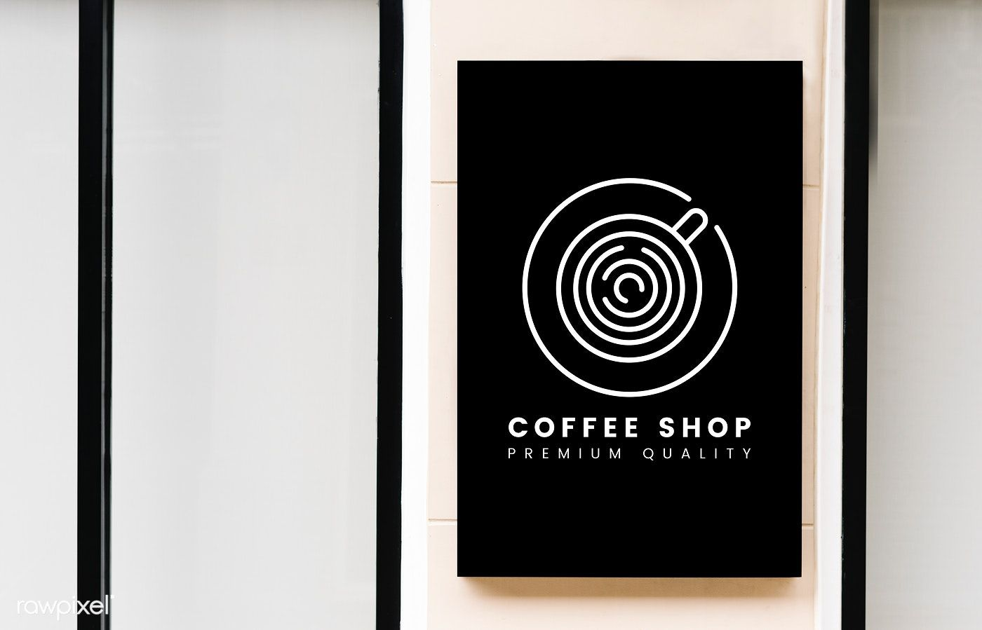 Minimal Coffee Shop Sign Mockup Free Image By Rawpixel Com Jira [ 899 x 1400 Pixel ]