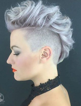 25 Exquisite Curly Mohawk Hairstyles For Girls And Women