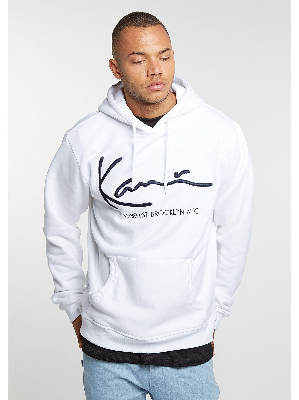 karl kani hooded sweatshirt retro hoody white khh. Black Bedroom Furniture Sets. Home Design Ideas