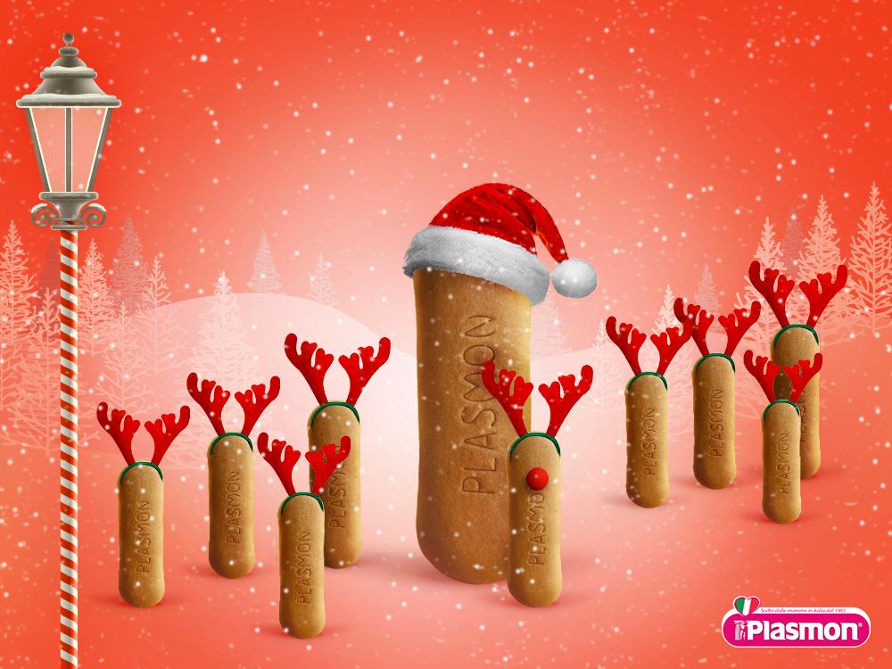 Biscotti Plasmon  C'è chi a Natale diventa più buono e chi lo è da sempre… Buone Feste a tutti da Biscotti Plasmon!