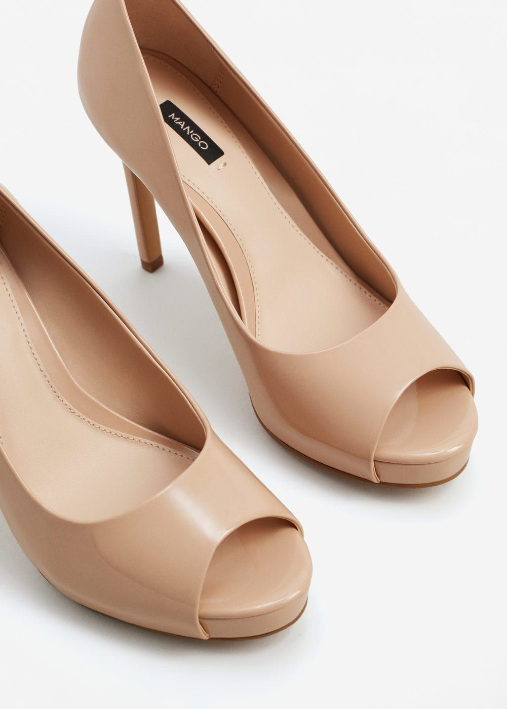 Sapato verniz salto   MANGO