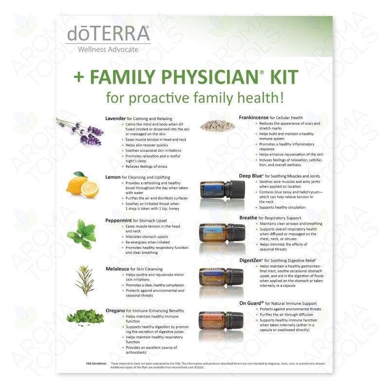 Doterra Family Physician Kit Family Essential Doterra Family