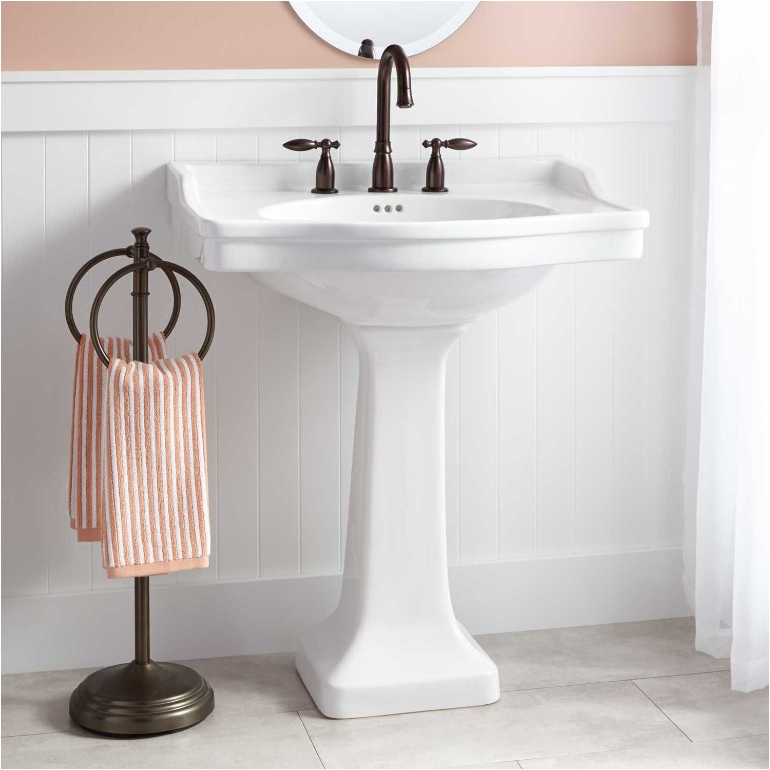 cierra large porcelain pedestal sink bathroom from