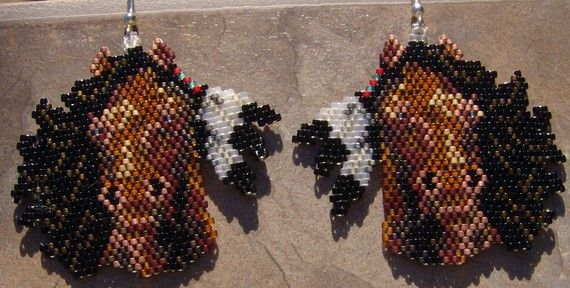 These Pretty Horse Heads Are Done In The Brick Stitch With
