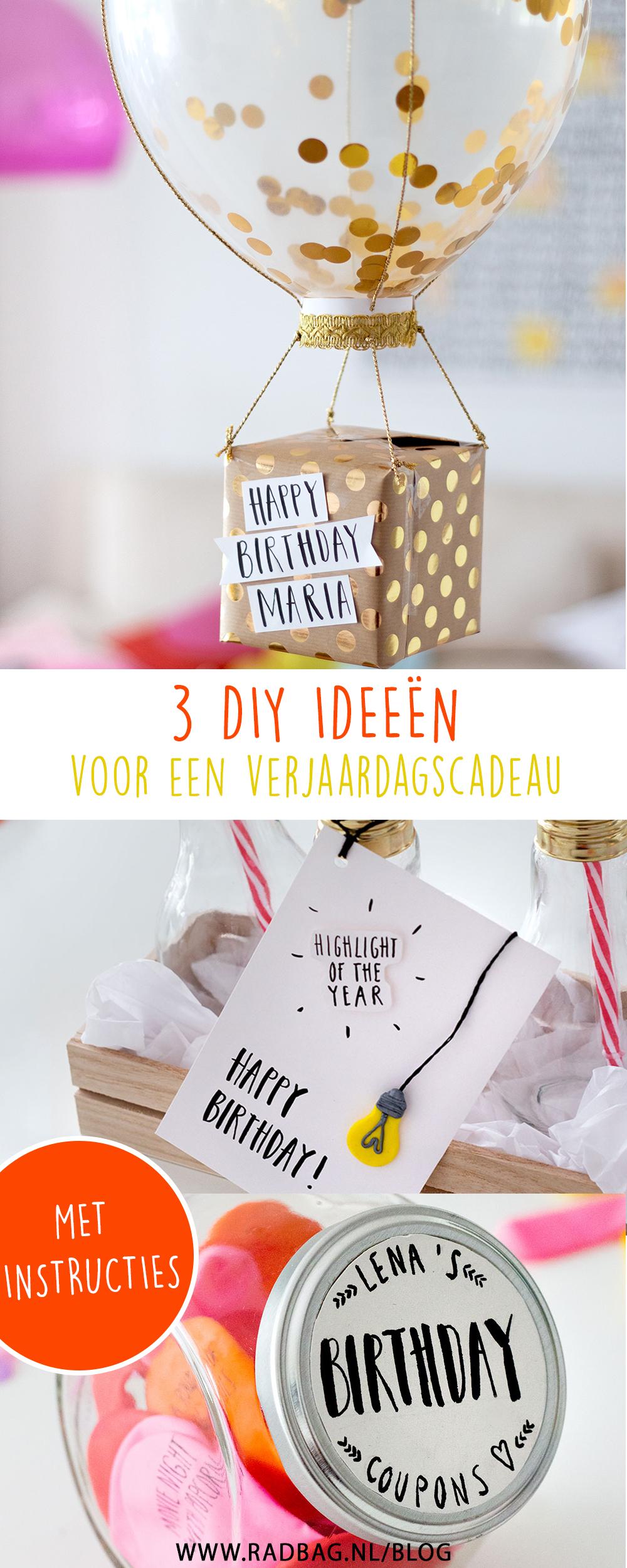 Verjaardag Cadeau.3 Diy Ideeen Voor Een Origineel Verjaardagscadeau