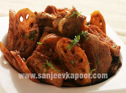 Deliciously Prepared Chicken In Combination With Lotus Stem Sanjeev Kapoorred Chillidesi