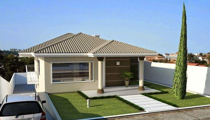 Fachadas modernas de casas con techos a 4 aguas casa for Techos planos modernos