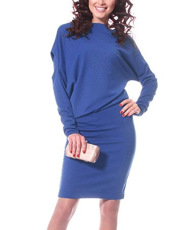 Another great find on #zulily! Electric Blue Drape Sheath Dress #zulilyfinds
