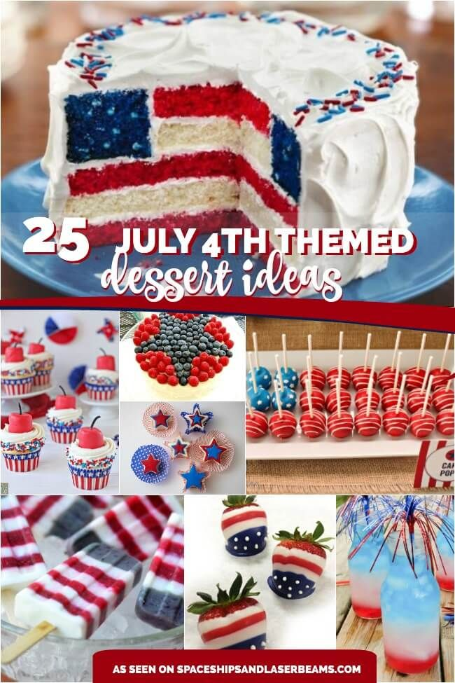 25 4th Of July Themed Dessert Ideas Themed Desserts 4th Of July Desserts Desserts