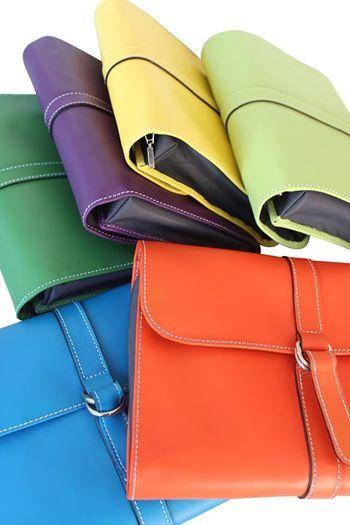 toilet bag color leather