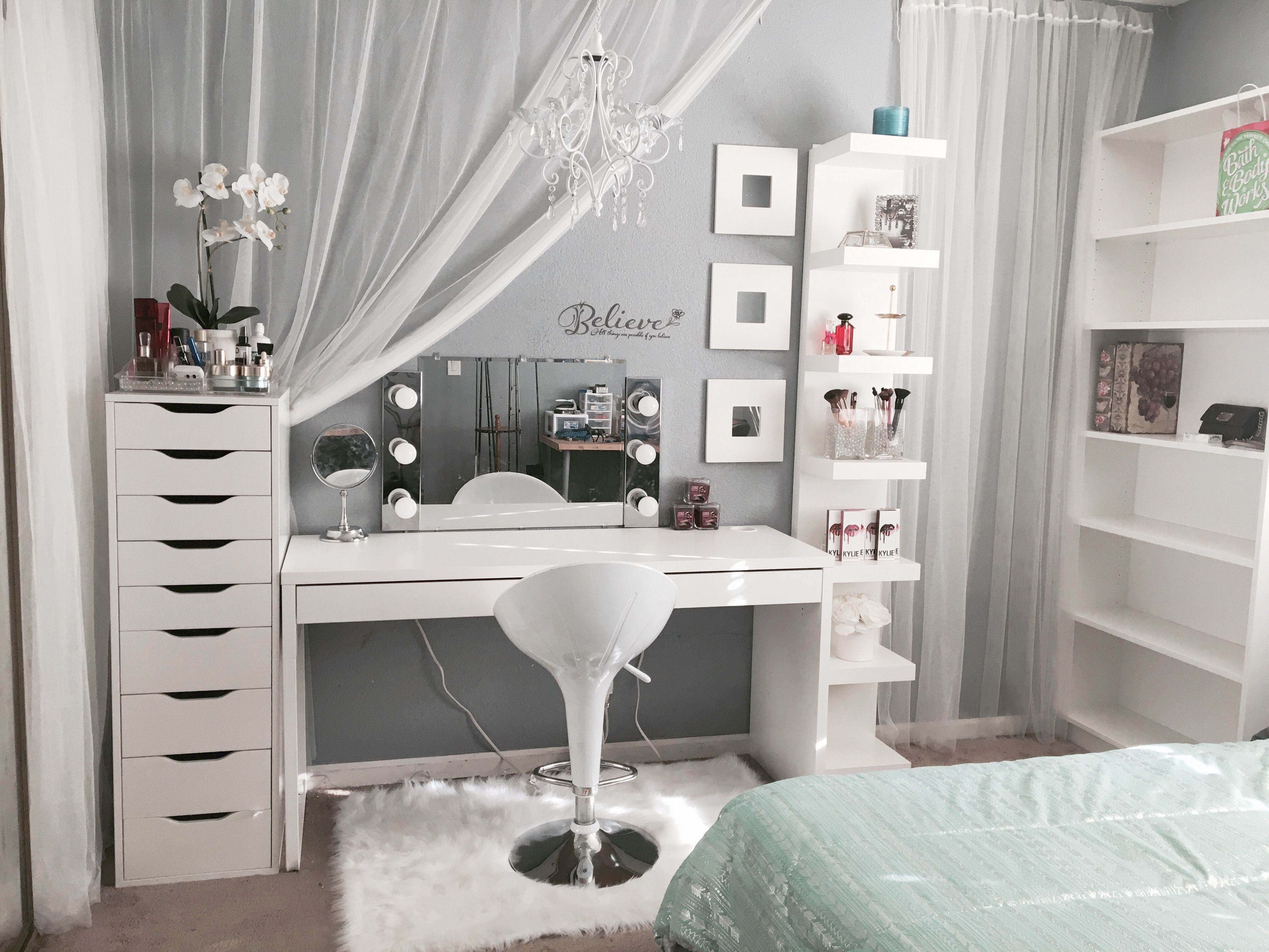 Makeup Vanity Table With Lighted Mirror Ikea Online Shopping