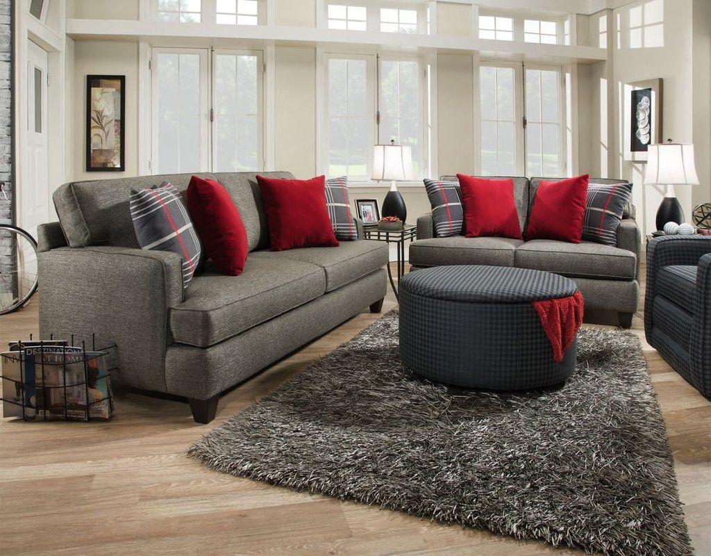 Corinthian Rockaway Slate Sofa And Loveseat My Furniture Place Living Room Sets Furniture Affordable Sofa Slate Sofa