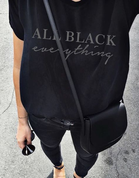 All black everything Tee - Hell Yes! | Awesome fashion clothes for stylish women from Zefinka.
