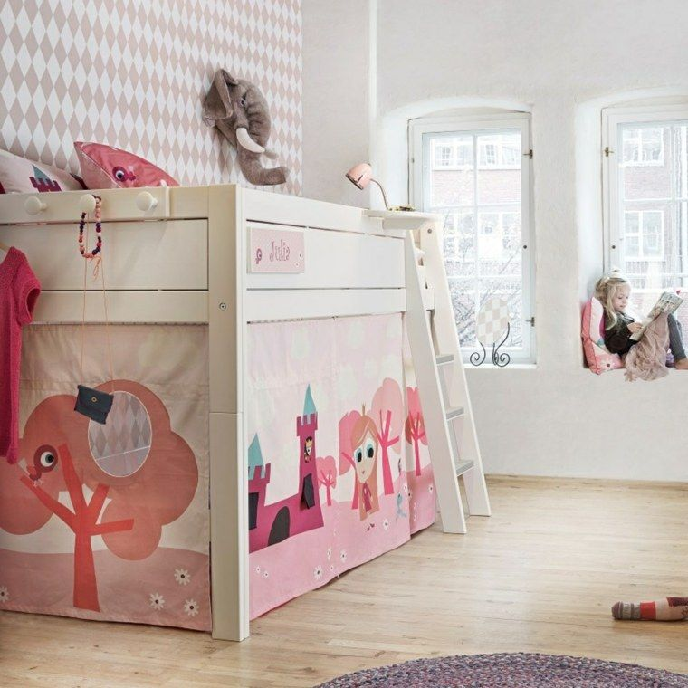 Le lit cabane fille  idées en images Lit cabane fille, Décoration