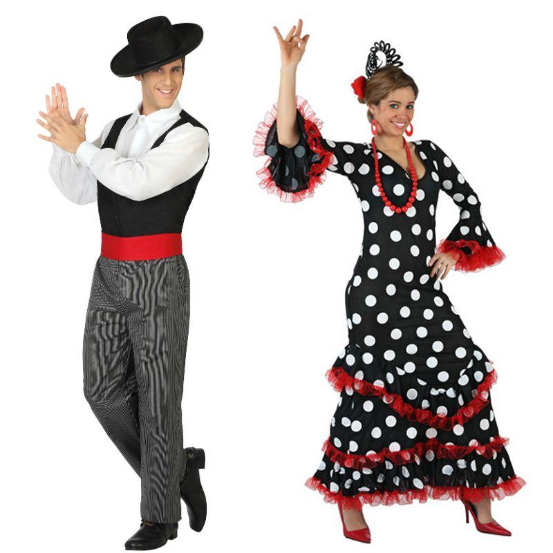 Pareja Cordobés – Sevillana  parejas  disfraces  carnaval 7fef74b5225