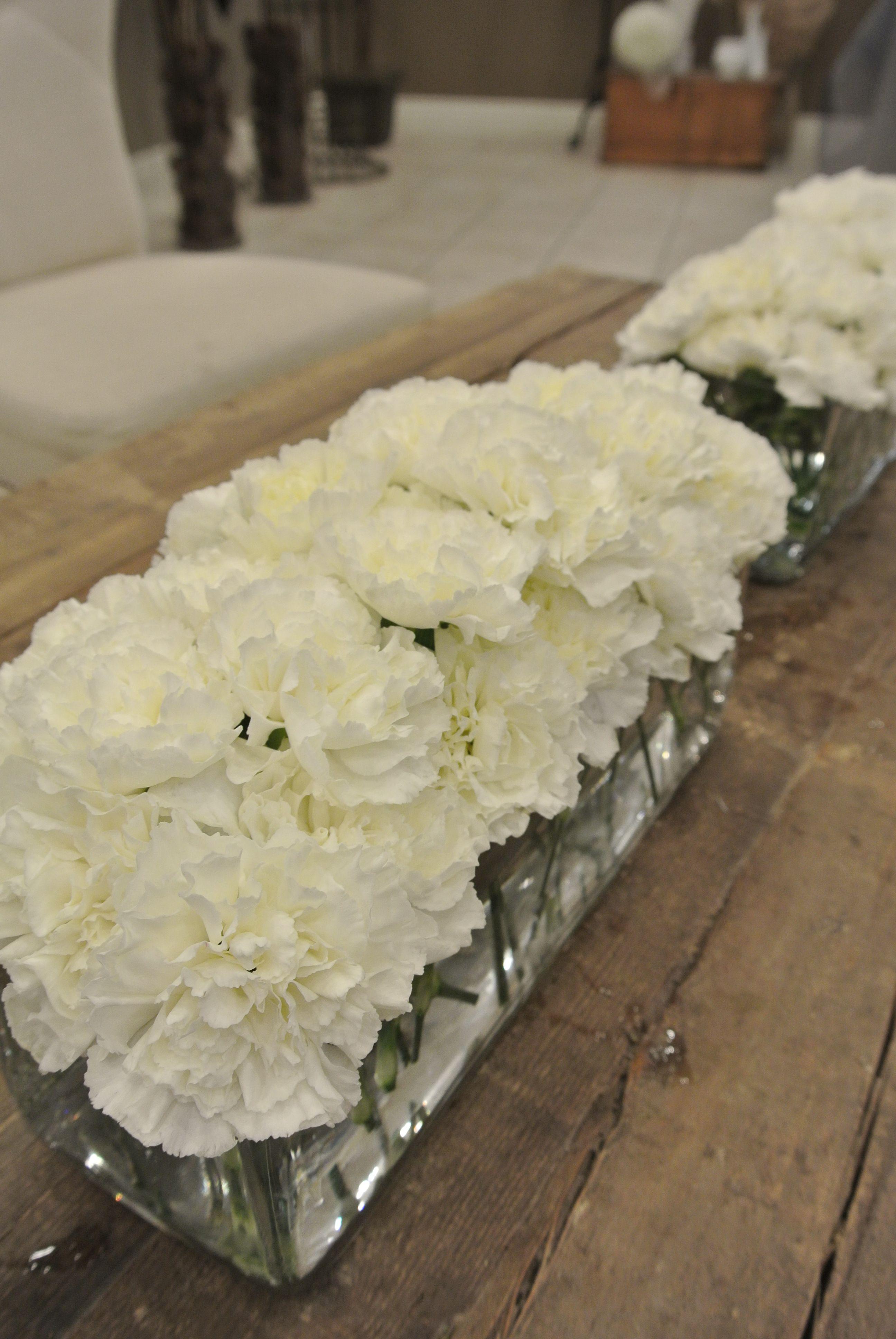Pin By Roshan Mehra On Flower Arrangements Carnation Wedding Centerpieces Carnation Wedding Carnation Centerpieces