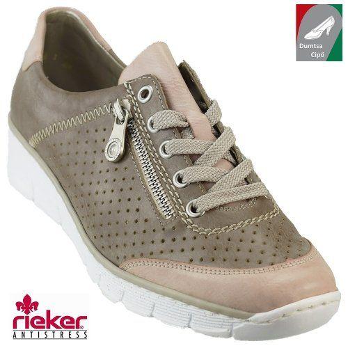 Rieker női cipő 53725-32 barnás kombi  c060af032e