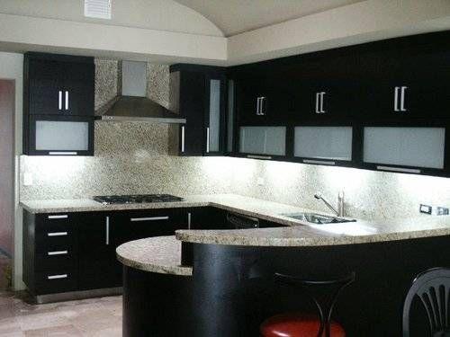 Cocinas integrales carpinteria beto cocina pinterest for Cocinas blancas con granito
