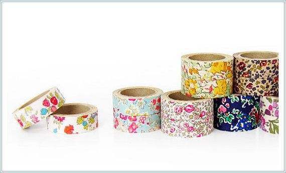 Liberty of London Fabric Masking Tape - Claire Aude in Yellow - Set ...