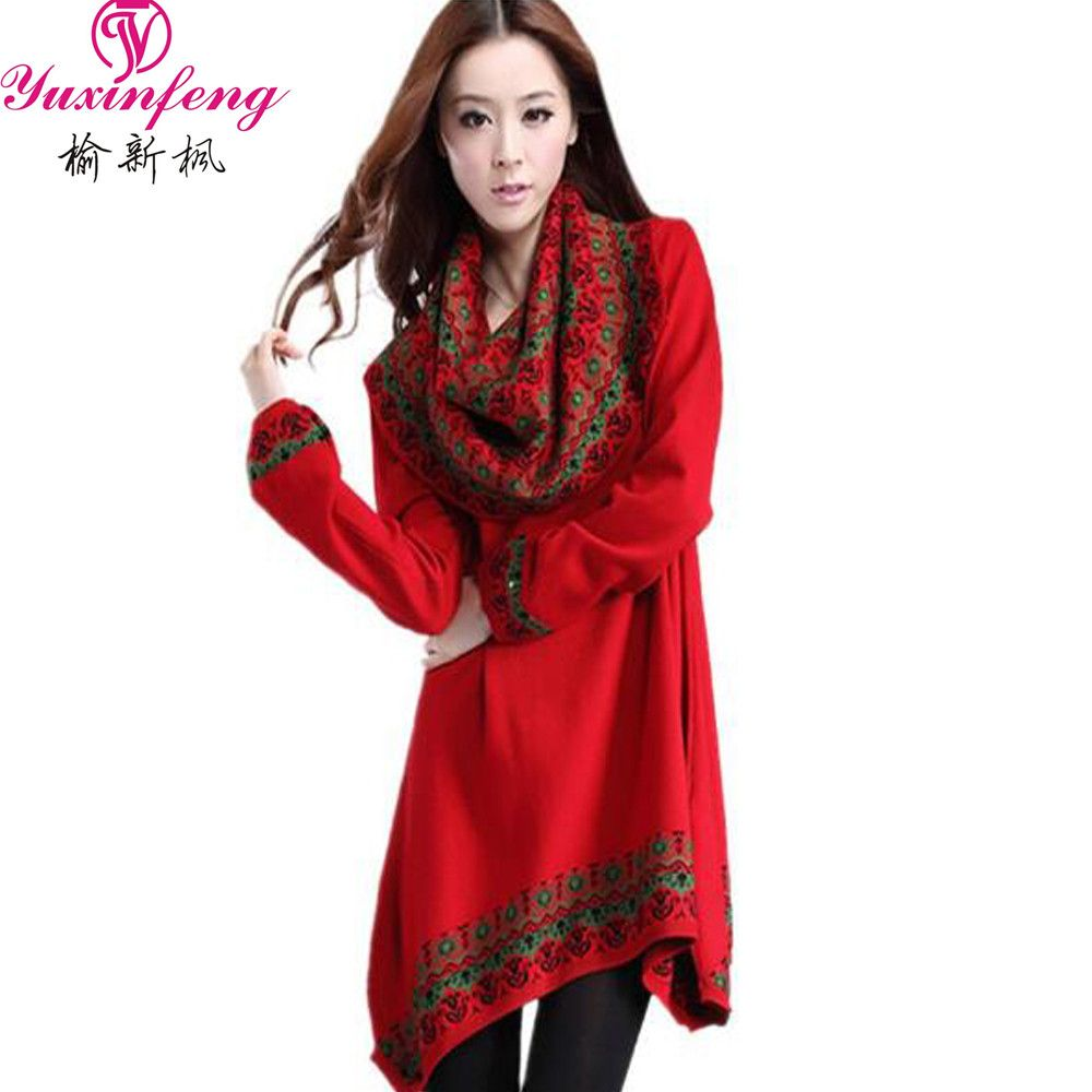 Autumn Fashion plus size Women sweater and Pullovers Maxi Sexy ...