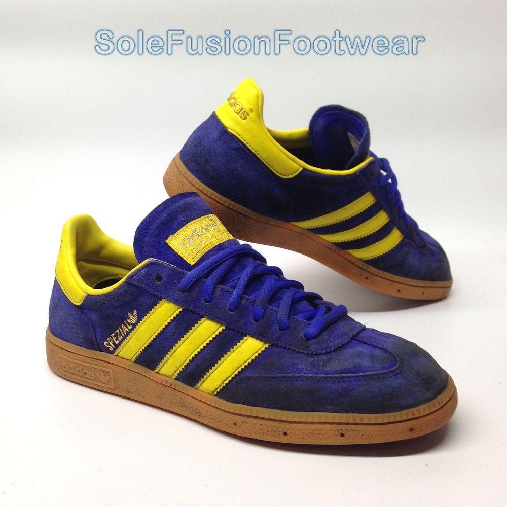 Adidas Originals hombre  Spezial formadores Azul / amarillo SZ 8 VTG Sneakers